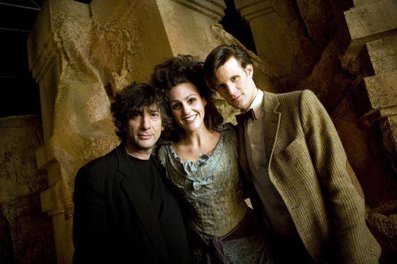 Neil Gaiman, Matt Smith, and Suranne Jones