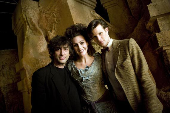 Neil Gaiman, Matt Smith, and Suranne Jones