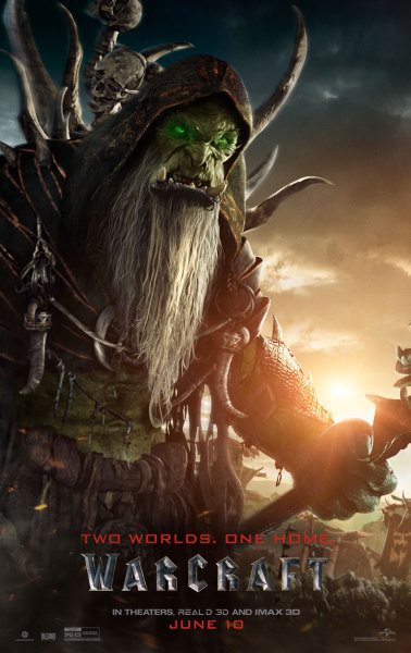 Poster art for Gul'dan, Warlock of Outlands in the film adaptation of Warcraft