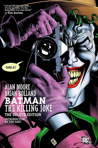 Original cover art of Alan Moore's graphic novel, The Killing Joke, illustrated by Brian Bolland.