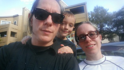 From left to right, Bart Howell, Bart's son Jetty, and Ashley McGee.