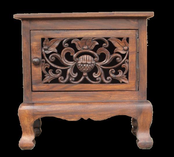 hand carved square teak panel