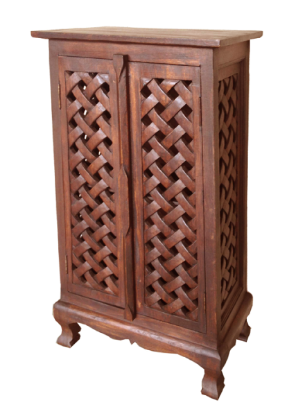 asian art imports lace cabinet