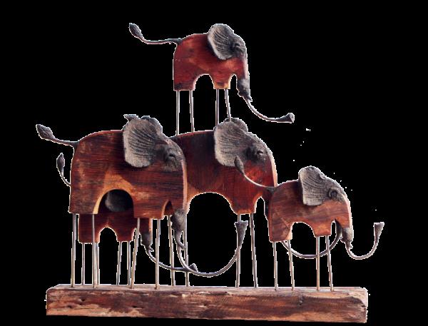 hand made elephant family
