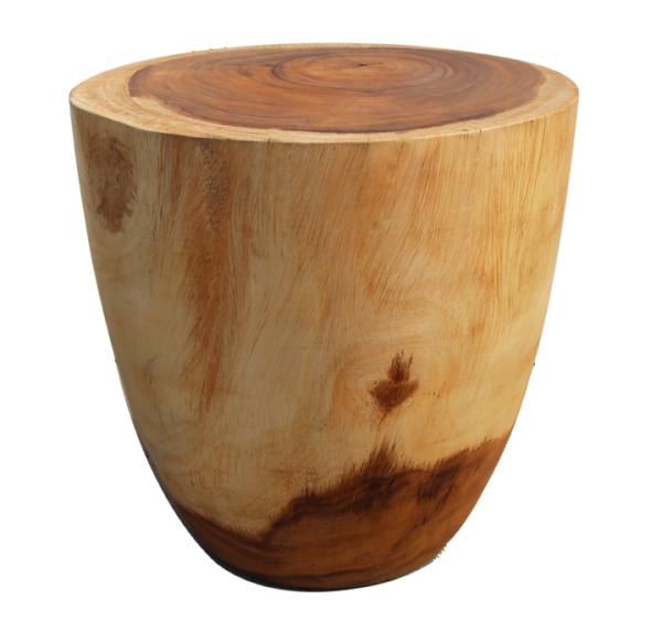 solid wood stool made with tropical wood