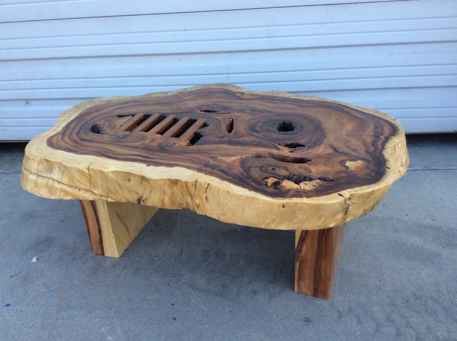 natural exotic wood chunky coffee table ct20