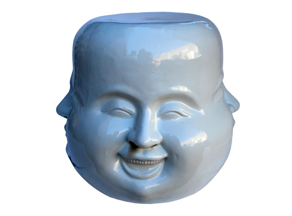 ceramic four face stool