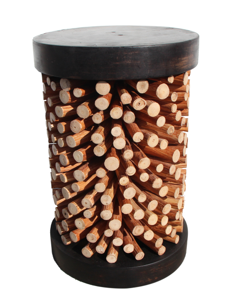 exotic wood joey stool made with tropical wood branches