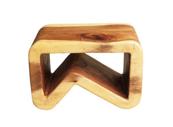 k stool made with acacia wood