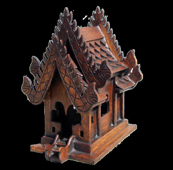 teak spirit house
