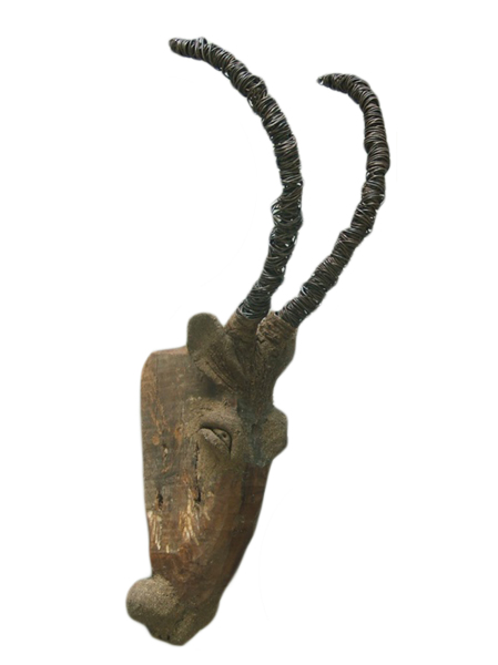 asian art imports chin goat head home decor