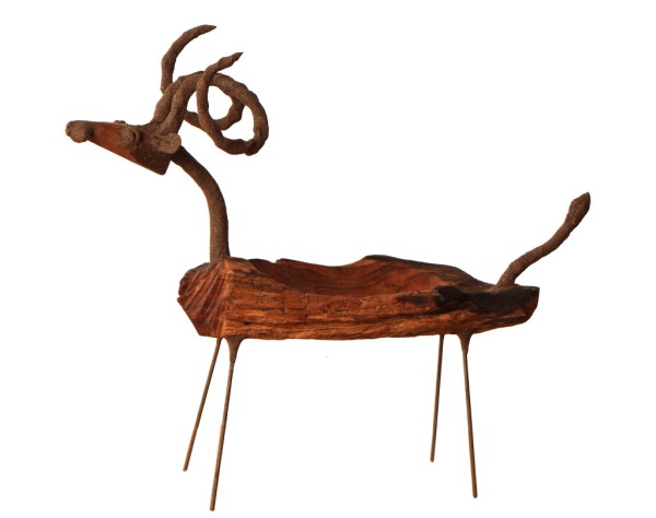 hand made chin goat tray natural wood decor