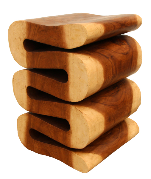 natural wood snake stool