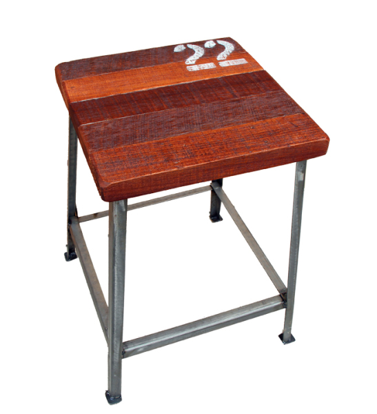 22 metal and topical wood stool