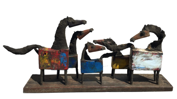 chin hand made horse family with color