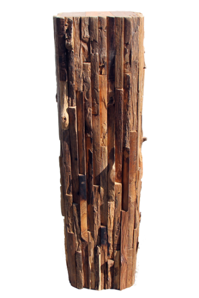 relaimed teak wood pedestal 26""