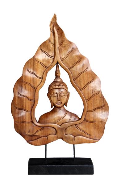 Buddha wood carving in Sukhothai style