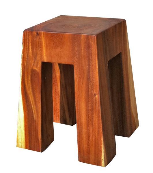 bell solid wood acacia stool