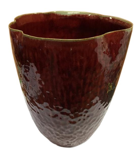 """redceladon """"style"""" vase hand shaped ceramic"""