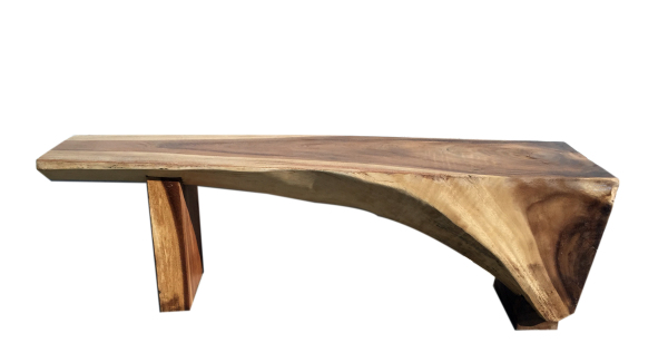 exotic natural wood  coffee table or bench
