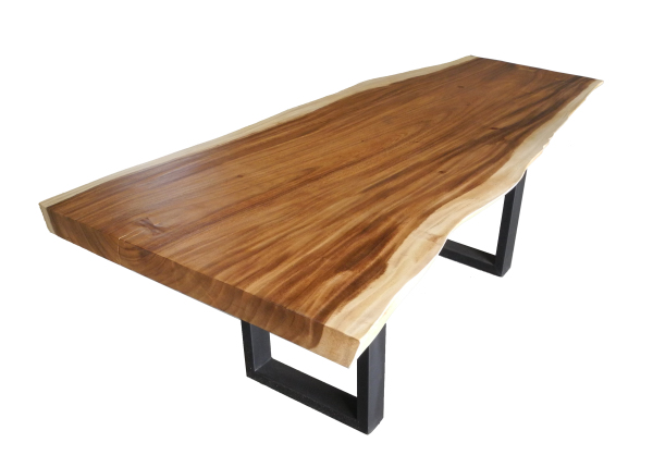 free edge or live edge acacia wood dining tables