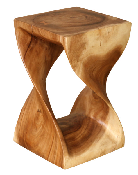 natural exotic wood stools and stands