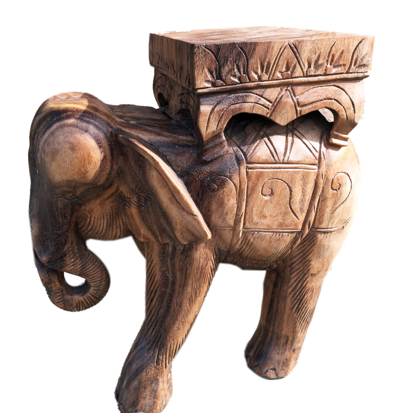 Hand Carved Elephant Stand