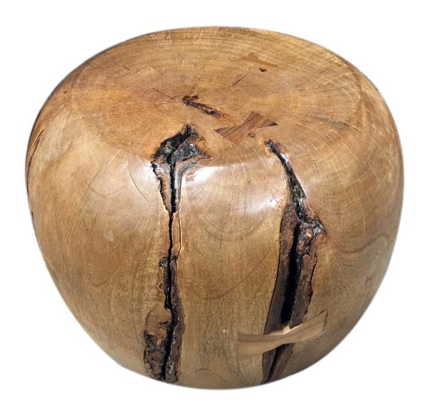 tropical wood monkey stool