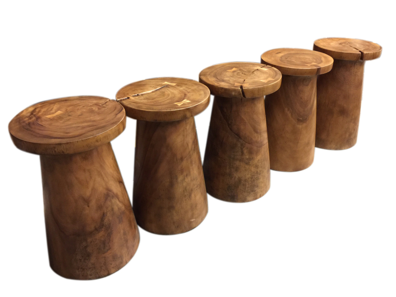 natural wood twist stool