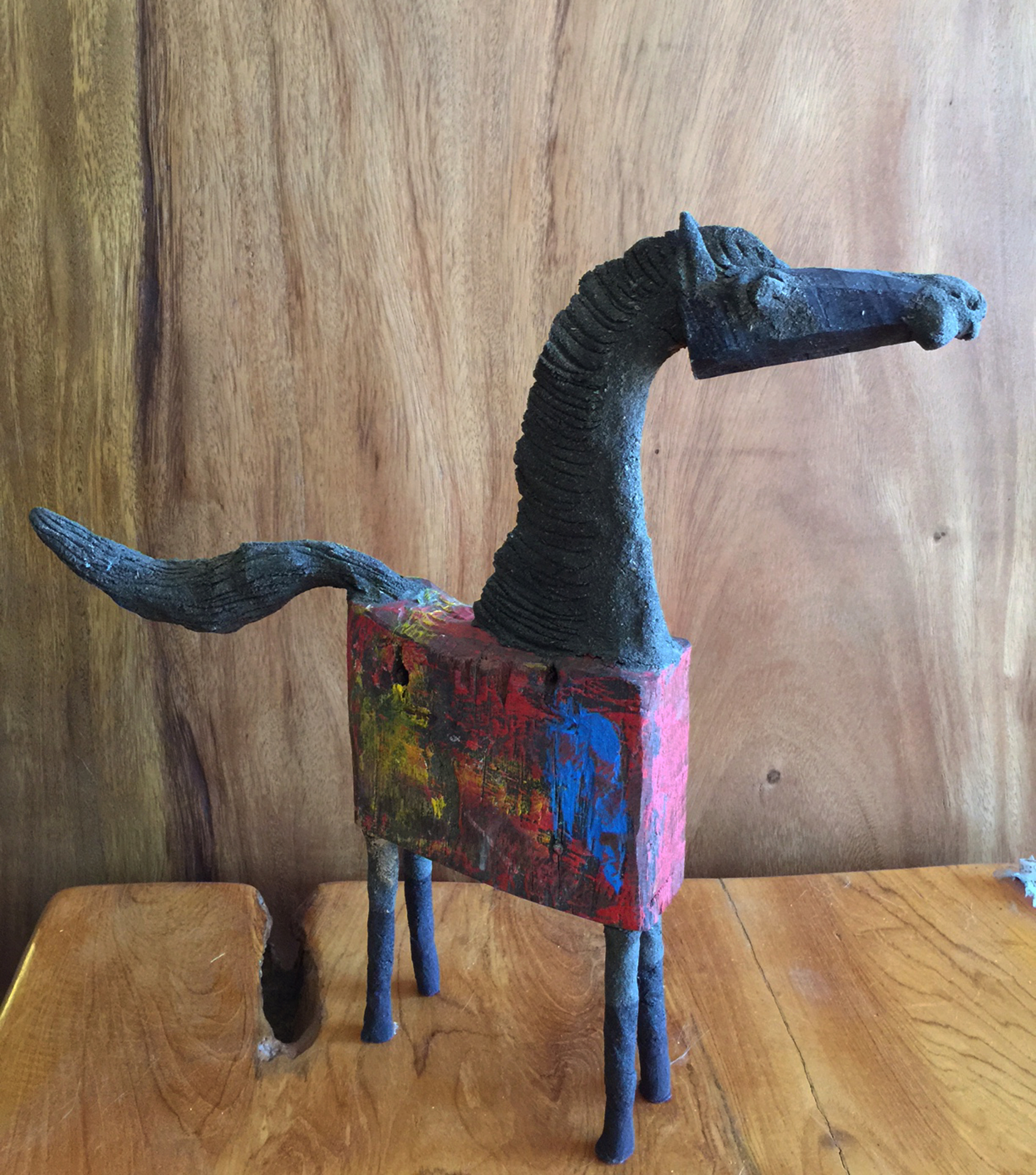 Chin hand made wood horse