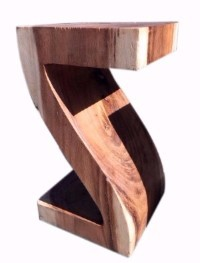natural solid wood Z stool
