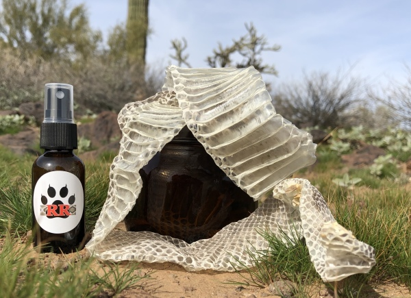 shed snake skin and scent tools