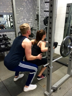 Michael and Amber, training at Santino's Health and Fitness Centre, Derby