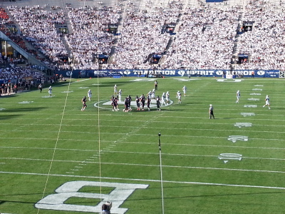 BYU Football Game. Foto sacada por autor.