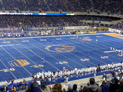 Boise State Football hosts BYU Football. Photo taken by author.
