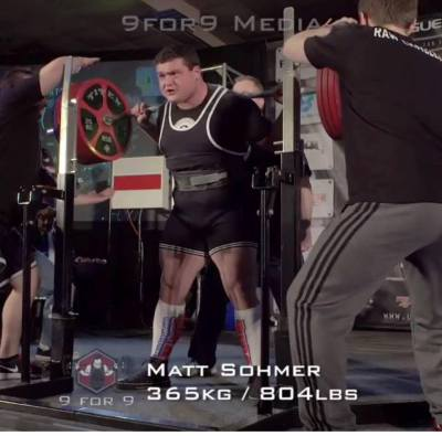 matt sohmer,800lbs squat,