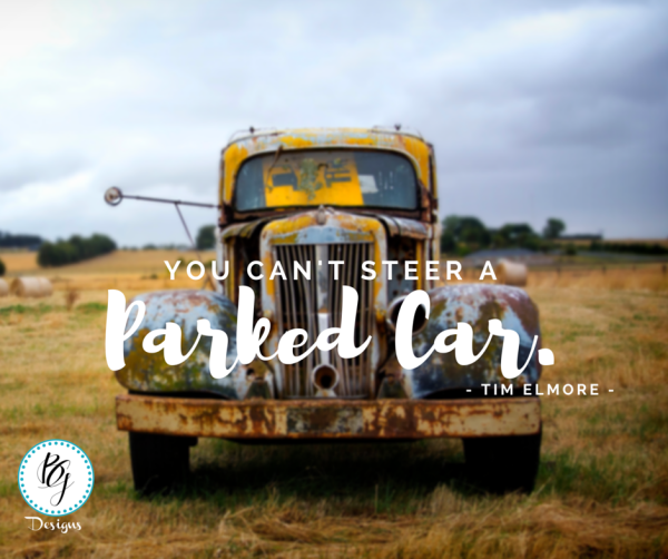 You can't steer a parked car