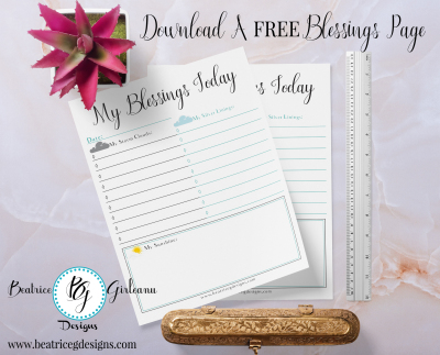 Download A Free Blessings Page