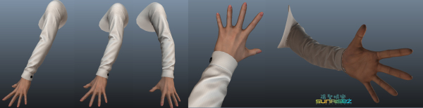 Female Hand for Casino Game