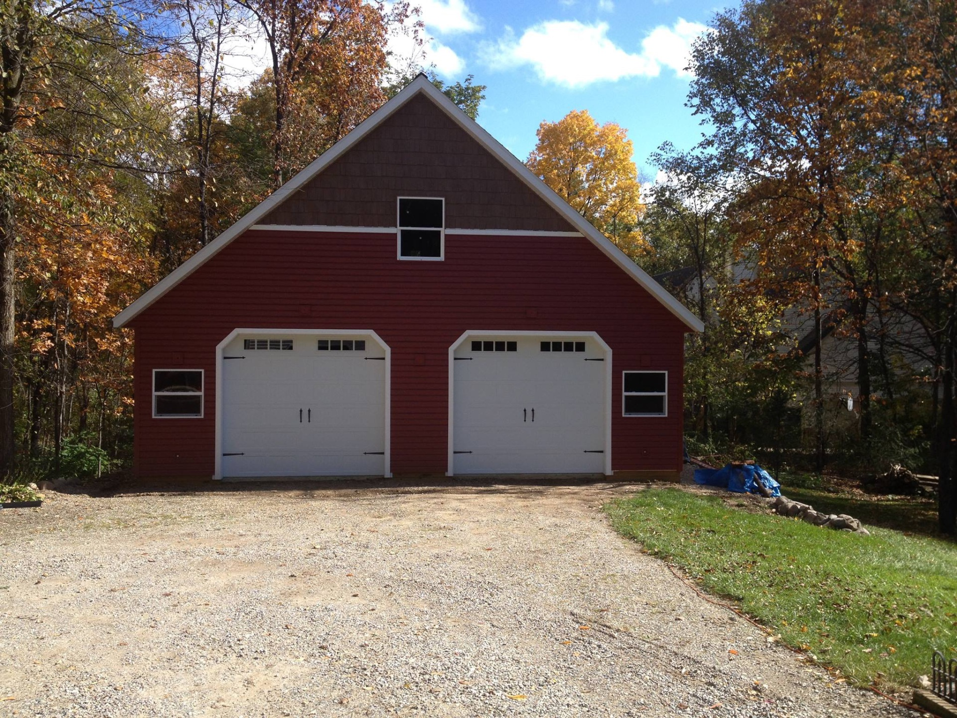 Steel Insulated Carriage House style Barn doors