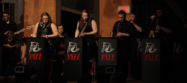 The F.C. Jazz Band includes students from all disciplines
