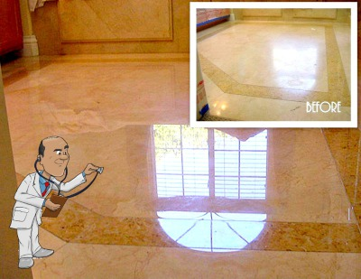What are the Primary Methods for Obtaining Shine on Natural Stone Floors?
