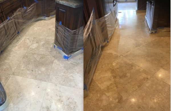 travertine polishing, travertine sealing, travertine cracked, cleaning travertine tiles, Boca Raton Florida