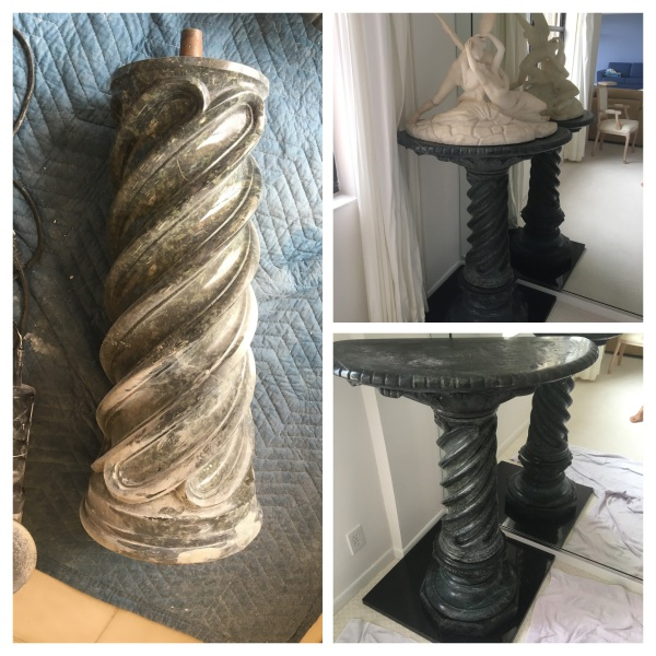French Statue and Pedestal Restoration
