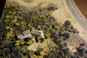model of a home to be built on the coast.