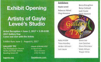 Gallery TPC Exhibit Opening Artists of Gayle Levee's Studio