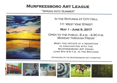 Postcard for the event at the Rotunda in Murfreesboro, TN