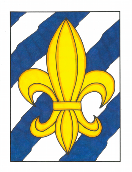 Fleur De Lis (striped background)