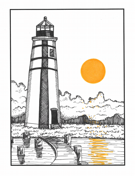 Lighthouse (detail)