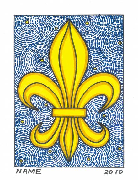 Fleur De Lis (Starry Night)